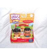 Learning Curve Play Town MARIA & PEDRO Real WOODEN Play Figures - $9.96