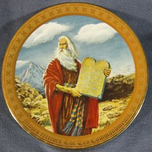 Moses Receives The Ten Commandments Collector Plate Mary Mayo Danbury Mint - $32.95