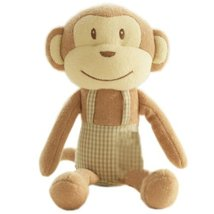Monkey Cute Baby Stuffed Animals Infant Toys Toddler Plush Toys with Bell