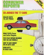 ORIGINAL Vintage 1977 Consumer Reports Magazine Autos Cars Issue - $14.84