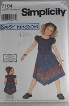 Simplicity pattern 7104 Daisy Kingdom bonus doll pattern inside - $6.30