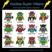 Hooties Super Villains cross stitch chart Pinoy Stitch - $13.50