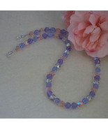 Czech Fire Polished Beaded Necklace Of Enchanting Colors  FREE SHIPPING - $27.00