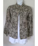 Chicos Size 0 XS 4-6 Jacket Blazer Tan Black Wi... - $30.00