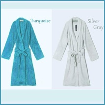 Long Luxury Soft Velvet Coral Fleece Belted Spa Lounger Bathrobe With Pockets image 9