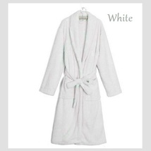 Long Luxury Soft Velvet Coral Fleece Belted Spa Lounger Bathrobe With Pockets image 11