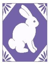 Lavender Bunny Color Graph Afghan Pattern - $5.00