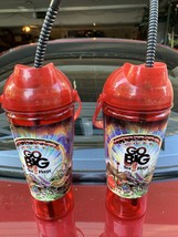 2 x Six Flags Go Big 2011 Coca Cola Red Cup Go Bigwith Straw - $24.95