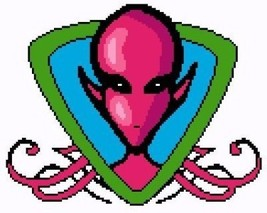 Pink Alien Color Graph Afghan Pattern - $5.00