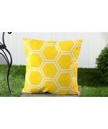 "Yellow Geometric UV50 Weather Resistant Decorative Throw Pillow 18"" x 18"" - $32.66"