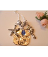 Handcrafted Dreaming of the Sea Pendant Necklace w Starfish, Sea Horse C... - $14.99