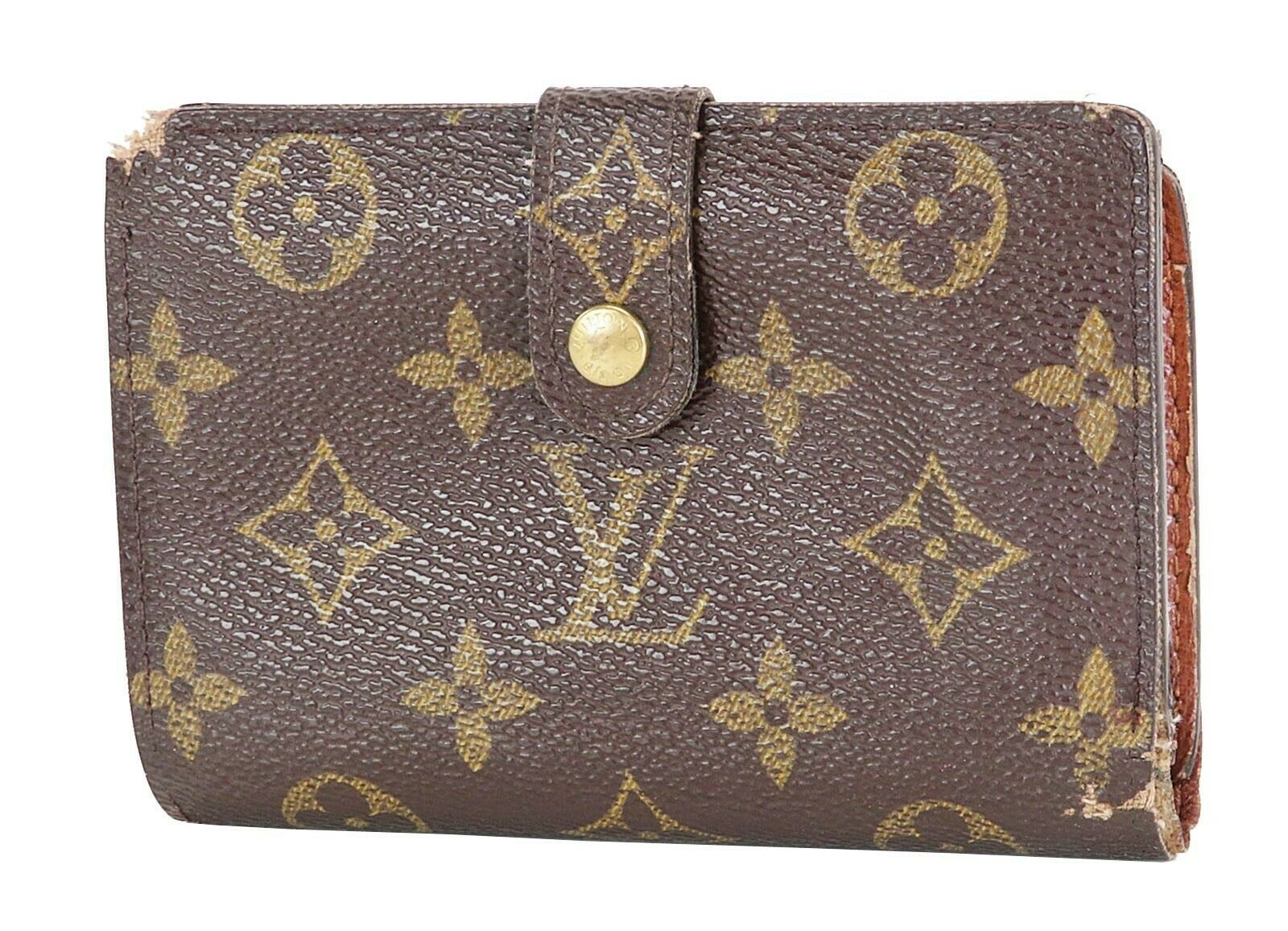 Primary image for Authentic LOUIS VUITTON French Kisslock Monogram Wallet Coin Purse #28533