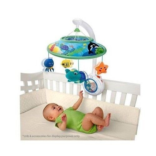Baby Einstein Sweet Sea Dreams Turtle Neptune Ocean Crib Soother Mobile w/Remote