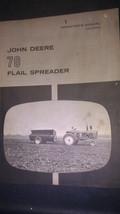 JOHN DEERE 70 FLAIL SPREADER OPERATOR'S MANUAL OM-C18345 - $27.30