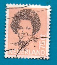 Used Netherlands Postage Stamp 1982 Queen Beatrix - New Values  Scott Cat# 622 - $1.99