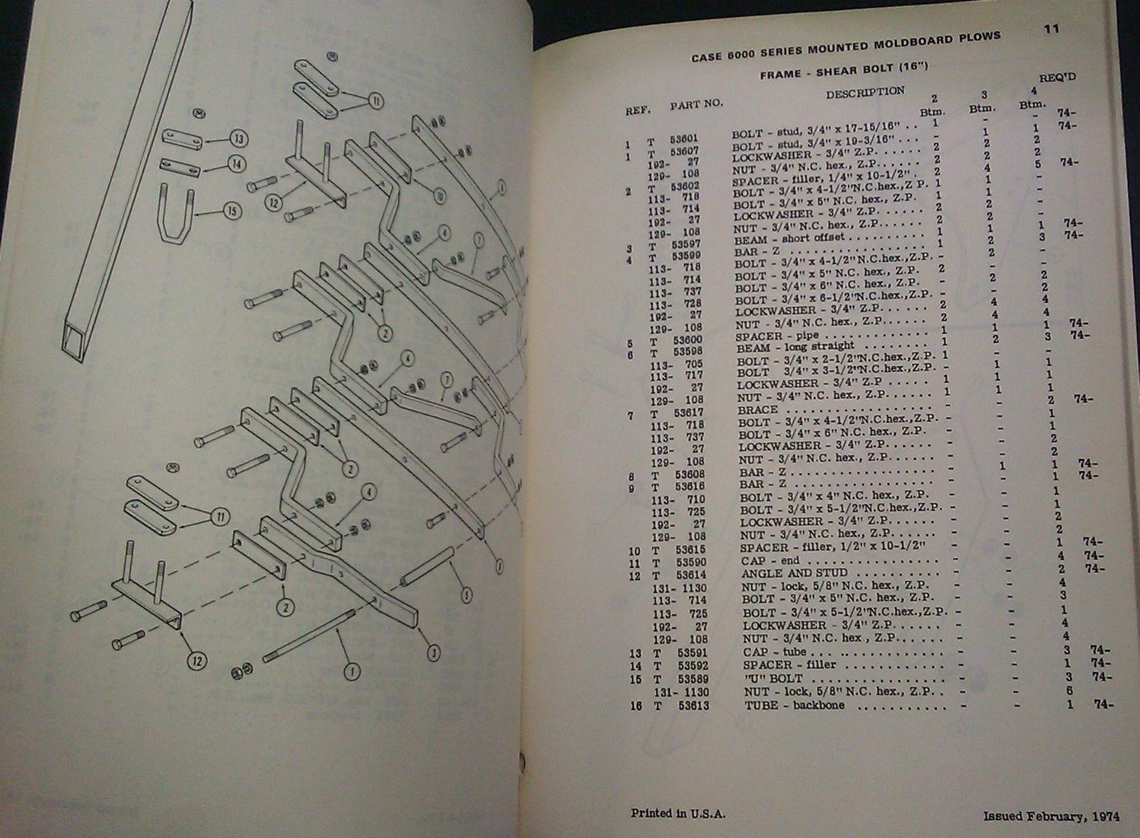 Mtd Parts Catalog : Vintage case series mtd moldboard plow parts catalog