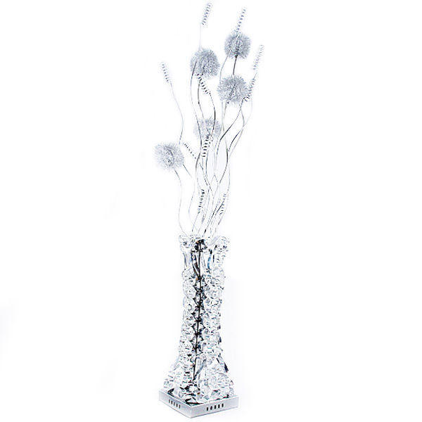 AWESOME MODERN CHROME ILLUMINATED BOUQUET OF FLOWERS FLOOR LAMP,53''H.