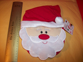Fashion Holiday Baby Clothes Tender Kisses Santa Bib Christmas Pompom Hat Set - $6.16