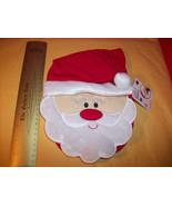 Fashion Holiday Baby Clothes Tender Kisses Santa Bib Christmas Pompom Ha... - $6.16