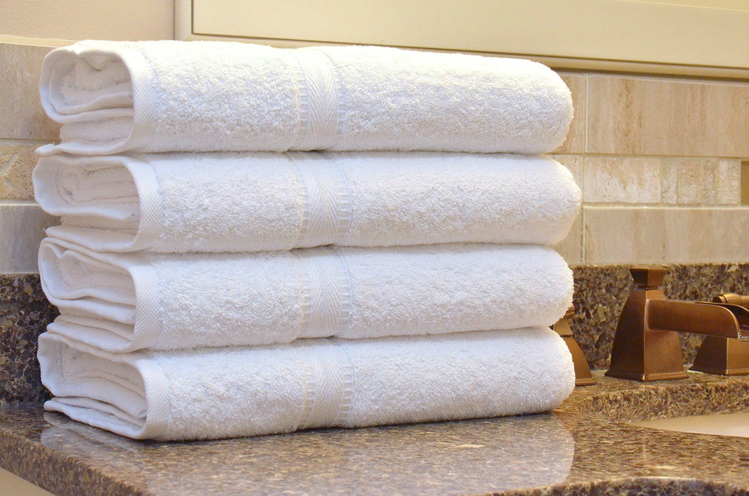 luxurious authentic hotel and spa turkish cotton bath towels set of 4 soft