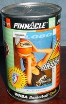 1997 pinnacle inside the can wnba basketball cards promo can sealed rebecca lobo - $19.99