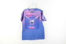 Fall Out Boy Mania Spell Out Acid Wash Official Tour Shirt Blue Mens Siz... - $34.60