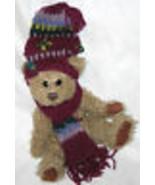 DOOLEY PICKFORD PLUSH BEARS THE BEAR SERENITY BRASS BUTTON TEDDY USA - $9.39