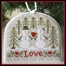Snow Love #3 Classic Ornament Series cross stitch Country Cottage Needle... - $5.40