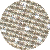 FABRIC CUT 32ct raw/white dot linen 9x9 Snow Love Country Cottage Needle... - $6.00