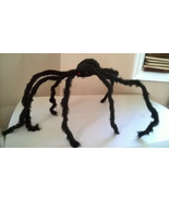 "Halloween Large 32""+ Black Furry Spider Poseable & Bendable Legs - $13.99"