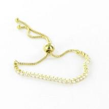 """Pandora Silver Yellow Gold Sparkling Strand 9"""" CZs Bracelet w/ BOX 560524CZ-1 - $140.65"""