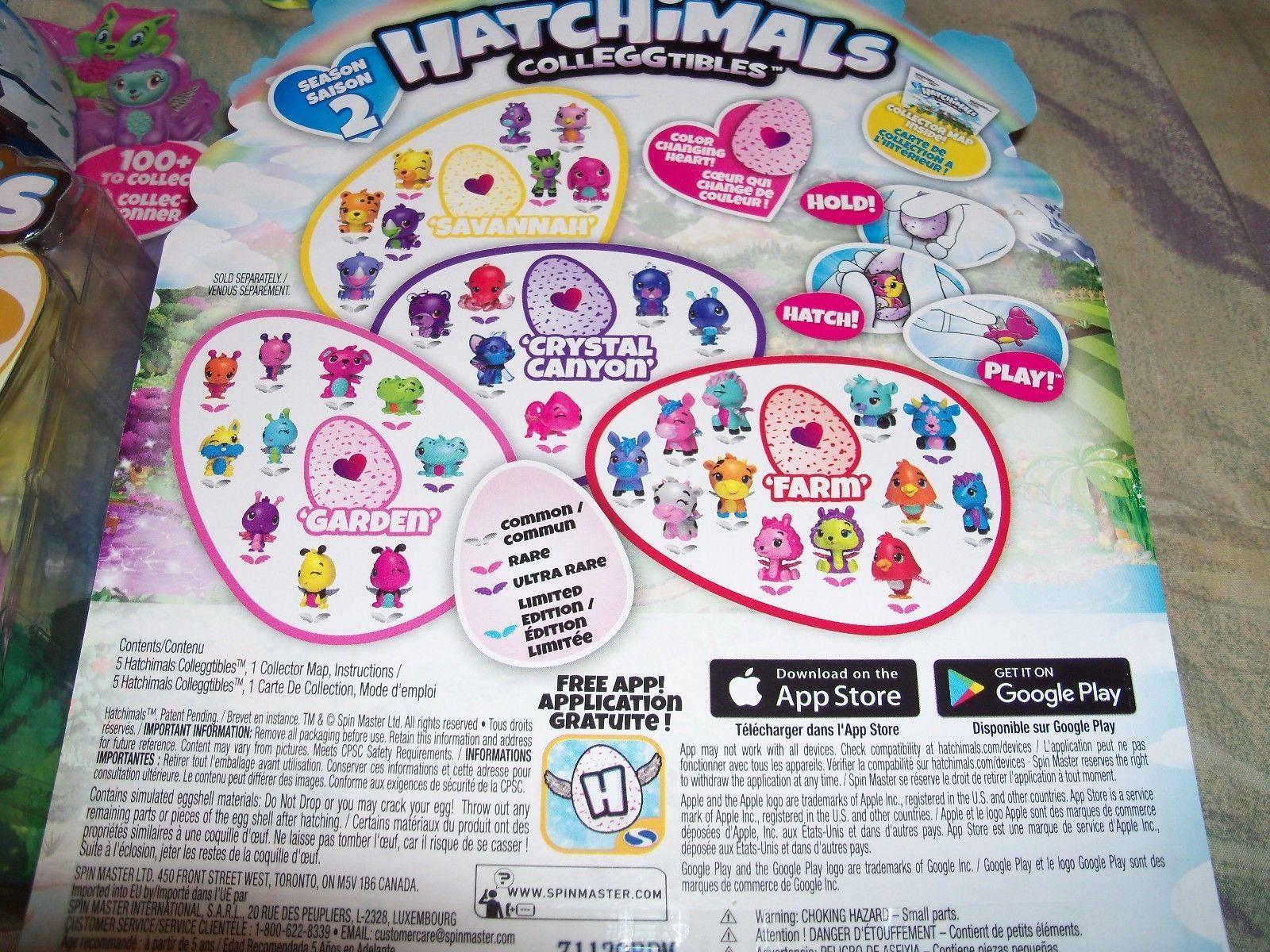 HATCHIMALS COLLEGGTIBLES EGG 4 PACK + BONUS SEASON 2 GOLDEN HATCHIMAL CHANCE EGG