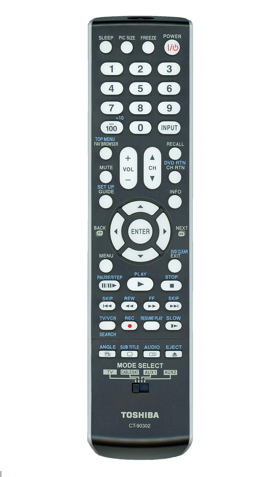 Original Toshiba CT-90302 LCD TV Remote Control, P/N 75010932 (Substitute for CT