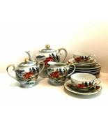 Vintage Japan Tea Set & Dessert Plates 16 Pieces Hand Painted Porcelain   - $48.50