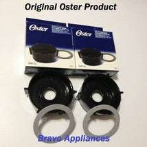 Set of 2 Genuine Oster Blender Jar Base/Caps 4902 with 2 Sealing Ring Ga... - $10.95