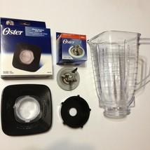 Oster Blender Blade Base Black Lid & Square Plastic Jar Set New Original... - $27.99