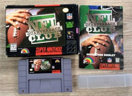 NFL QUARTERBACK CLUB football game for SNES CiB Super Nintendo Entertain... - $7.87