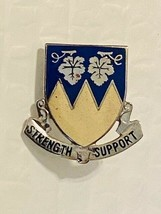 US Military 13th Quartermaster Battalion Insignia Pin - Strength Support - $10.00