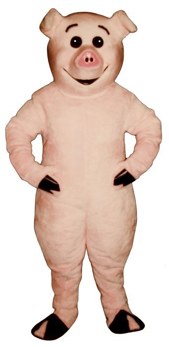 PROFESSIONAL MADE TO ORDER PINK PIG MASCOT COSTUME. HALLOWEEN