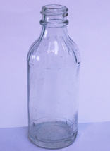 Small Screw-Top (No Cap) Mid-Century Clear Glass Bottle - $1.95