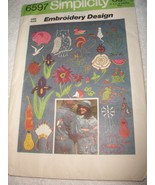 Vintage Embroidery Transfers Simplicity 6597 - $6.00