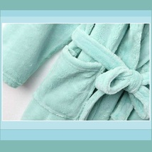 Long Luxury Soft Velvet Coral Fleece Belted Spa Lounger Bathrobe With Pockets image 12
