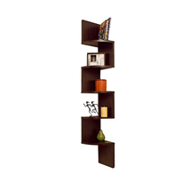DanyaB Home Indoor Large Laminated White Corner... - $45.09