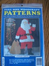 Wooden Yard Ornament Santa Pattern  - $10.00