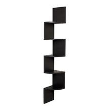 DanyaB Home Indoor Black Laminate Large Corner Wall Mount Shelf 1312-XF1... - $42.95