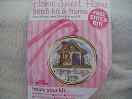 Cross Stitch Kit & Frame: Comes with Frame, Fabric, Floss & Directions - $5.00