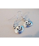 Silver Tone Pumpkin Earrings  - $0.00