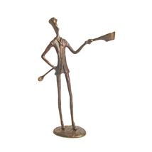 DanyaB Home Indoor Chef Bronze Sculpture 1312-ZD4244 - $47.52