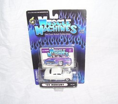 Muscle Machines '49 MERCURY COUPE White Diecast 1:64 Scale NEW! - $11.96