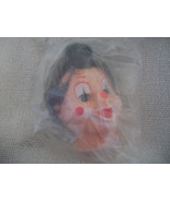 Lady Clown Doll Head with Hat - $6.00